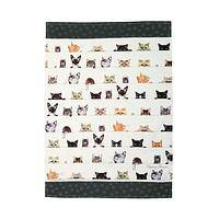 Peeky Playful Kitchen Kitties - Peek-a-Boo Cats Printed kitchen Towel