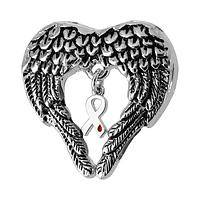 Soaring Hope - Angel Wings Surrounding DIabetes Awareness Symbol