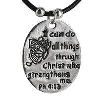 Christ Strengthens Me - Philippians 4:13 Spiritual Empowerment Necklace