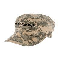 Best Dressed Wife - Military Style Camo Cap With Proud Army Wife Inscription