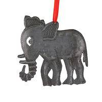 The Oil Tin Elephant Ornament - Upcycled Elephant Christmas Tree Ornament from Haiti