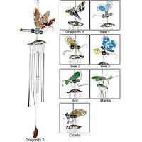 Mosaic Music - Stained Glass Insect Wind Chimes
