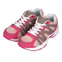 Inspiring Steps - Pink Walking Shoes With Pink Ribbon Logo