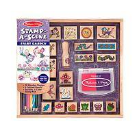 A Child's Fantasy Land - Stamp-a-Scene Fairy Garden Arts & Crafts Activity Set