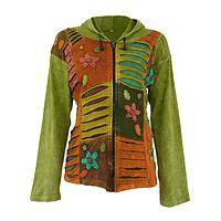 Garden Delight - Lightweight Cotton Jacket Embellished With Flowers