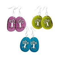 Beauty of Life - Tree of Life Cut Out Earrings from Tagua Nuts