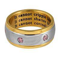 Keeping it Real - A Ring To Affirm What Cancer Cannot Do To Your Life