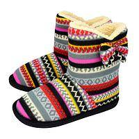 Nordic Stripe - Colorful Lightweight Winter Boots (Man-made Materials)