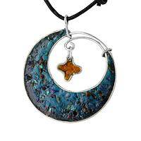 Celestial Star - Semi-Precious Gemstone Moon and Star Necklace
