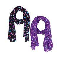 Paw Power - Brightly Colored Paw Print Lightweight Twill Scarf