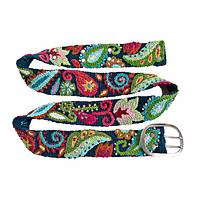 Psychedelic Paisley - Hand Embroidered Fair Trade Peruvian Wool Belt