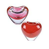 Lasting Love - One of a Kind Heart Shaped Hand Blown Glass Vase