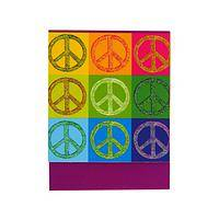 A Rainbow of Peace - Glittering Peace Signs Pocket Notepad