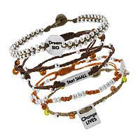 Beads of Dreams - Handwoven Inspirational Charm Bracelet