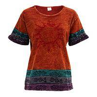 Desert Sunrise  - Gorgeous Earthtone Stonewashed Sunshiney Top