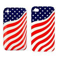 American and Proud - American Flag-Themed Hard Acrylic I-Phone Cell Case