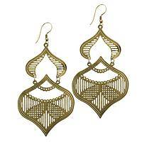 Dancing Dreamers - Handcrafted Brass Dangle Earrings from India