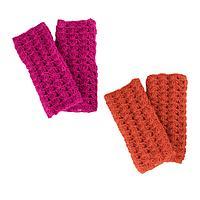 Warm Hands  - 100% Wool Himalayan Crocheted Fingerless Mittens