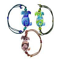 Glass Dogs, New Tricks - Dog Silhouette Glass Bead Bracelet