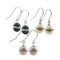 Jupiter Enchantment - Glowing Freshwater Pearl and Crystal-Embellished Earrings