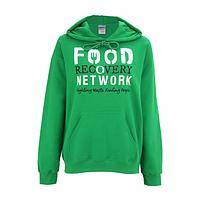 Glorious Green Ambition - The Food Recovery Network Cotton Hooded Green Sweatshirt