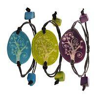 Tree of Life - Hand Carved Tagua Bracelet from Colombia