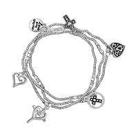 Love One Another - Spirit of Love Silvery Charm Bracelets Set of 3
