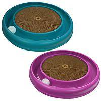 Feline Indulgence - Turbo Scratcher Combines Scratching Disk, Catnip & Ball