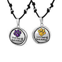 Hopeful Token - Purple Paw Reversible Rescue Animal Necklace