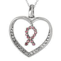 Bling for Breast Health - Pink Ribbon Supporter Necklace
