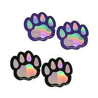 Prismatic Paw - Paw Print Holographic Animal Rescue Magnets (Set of 2)