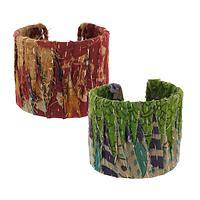 Art Reimagined - Recycled Kantha Sari Cuff Bracelet