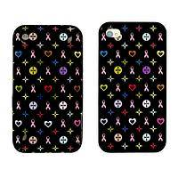 Precious Life - iPhone Case Decorated WIth Pink Ribbons, Stars and Hearts