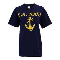 Anchors Away - United States Navy Preshrunk Cotton T-Shirt