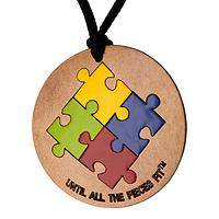 Primary Colors of Hope - Until All the Pieces Fit Gourd Necklace