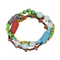 Dream Circle - Recycled Glass & Bauxite Stone Fair Trade Artisan Bracelet