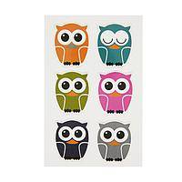 Owls Are a Hoot - A Set Of 5 Vinyl Hoot Owl Magnets For Your Kitchen and Home