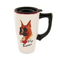 Boxer Love - 16 Ounce Ceramic Travel Mug