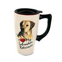 Best Friend - Ceramic Travel Mug With Picture Inscribed I Love My Labrador