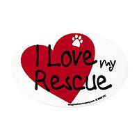 My Rescued Friend  - Vinyl Car Magnet Saying 'I Love My Rescue'