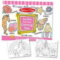 Pink Jumbo Sized Coloring Book - Fun Coloring Book - 50 Pages (11 x 14) Melissa & Doug