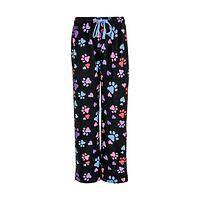 Paws and Relax - Cotton Flannel Paw Print Colorful Drawstring Pajama Pants