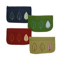 New Leaf Cosmetic Bag - A Fun and Green Friendly Handmade Cosmetic Bag