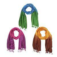 Glory of Ombre Scarves - Ombre Cotton Scarf - Three Colors