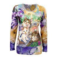 Kitties on the Beach - Seascape Cats Long Sleeve Top