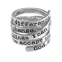 Wrapped in Serenity - Serenity Prayer Metal Wrap-Around Ring