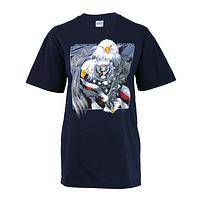 Soaring With Eagles - Under Mighty Wings American Pride Preshrunk Cotton T-Shirt