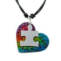 The Rainbow Puzzle Stone - Autism Awareness Gemstone Necklace
