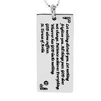 All Things Pass - Inspirational St. Teresa of Avila Silver-Tone Necklace