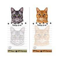 Kitty in Charge - Tabby Cat To-Do Magnetic Sticky Notepad